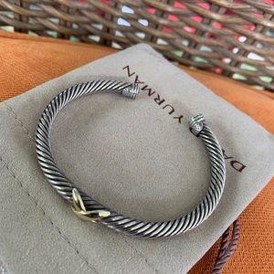 David Yurman X gold bracelet